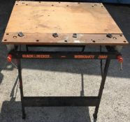 A Black & Decker Workmate 2000 folding work bench