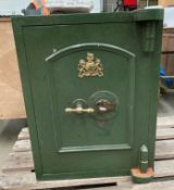 A Thomas Skidmore metal office safe (one drawer missing internally) 52 x 52 x 66cm high complete
