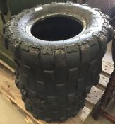 A pair of Duro AT20X11R9 quad bike tyres