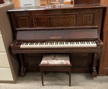 C. BECHSTEIN IRON FRAMED UPRIGHT PIANO in mahogany case s/n H.S.