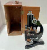 A Beck, London model 47 No. 21990 microscope IDIV=0.