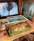 Jean Guichard - large framed photo print 'Phares dans la tempete,