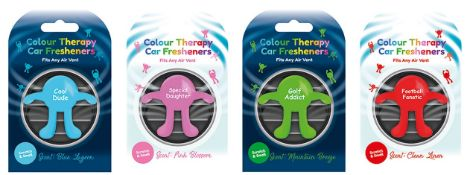 64 x Colour Therapy Car Air Fresheners