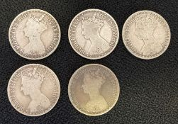 Collection of 5 gothic florins