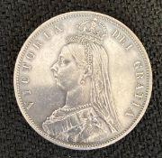 1887 Jubilee Head Queen Victoria Half Crown