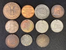 Collection of medallions - inc Churchill medal