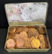 Tin of uncirculated pennies