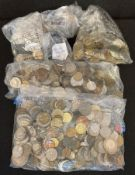 Mixed collection of foreign coins