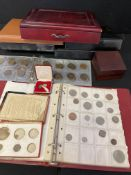 Collection of coin boxes,