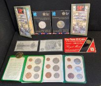 Coins packs - inc Isle of Man sets,