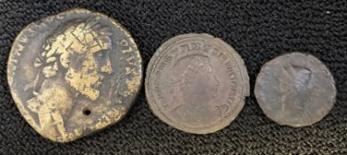 Collection of three Roman Coins