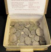 Box of Irish coins,