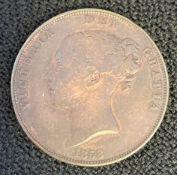 1858 Queen Victoria Penny