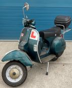 AN LML STAR 125CC SCOOTER - Petrol - Green - Manufactured in India under licence from PIAGGIO.