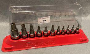 Snap-on socket drive set 11 piece