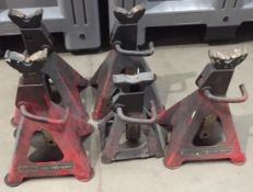 5 x adjustable heavy duty axle stands (two by Clark)