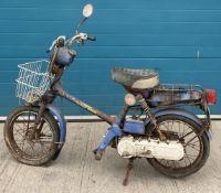 HONDA EXPRESS 49cc MOPED - Petrol - Blue. BARN FIND - From a deceased estate. Reg No: GWW 775T.