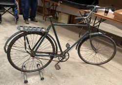 A vintage RAF bicycle in blue - lacks seat