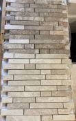 47 x packs of 10 Rosoni beige and tiramisu vein cut linear 1 brushed mosaic tiles - 30.5 x 30.