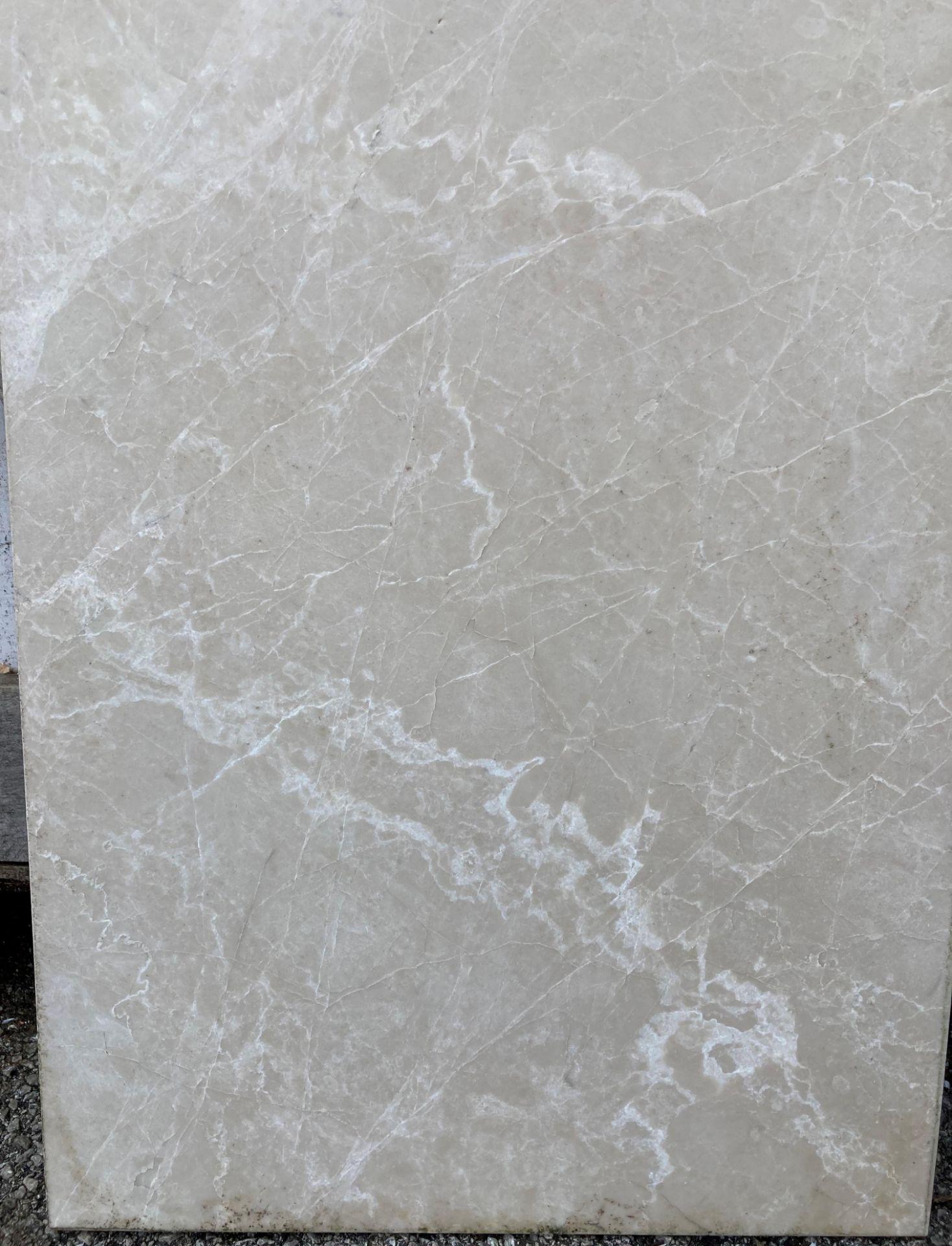 30 x packs of 4 marble tiles in Rosoni beige - 60 x 40 x 1.