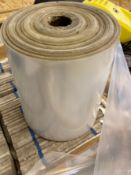 A part roll of plastic tubed material 38cm width