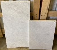 116 x marble white field tiles (58 at 30 x 60cm and 58 at 30 x 40cm - palletised)