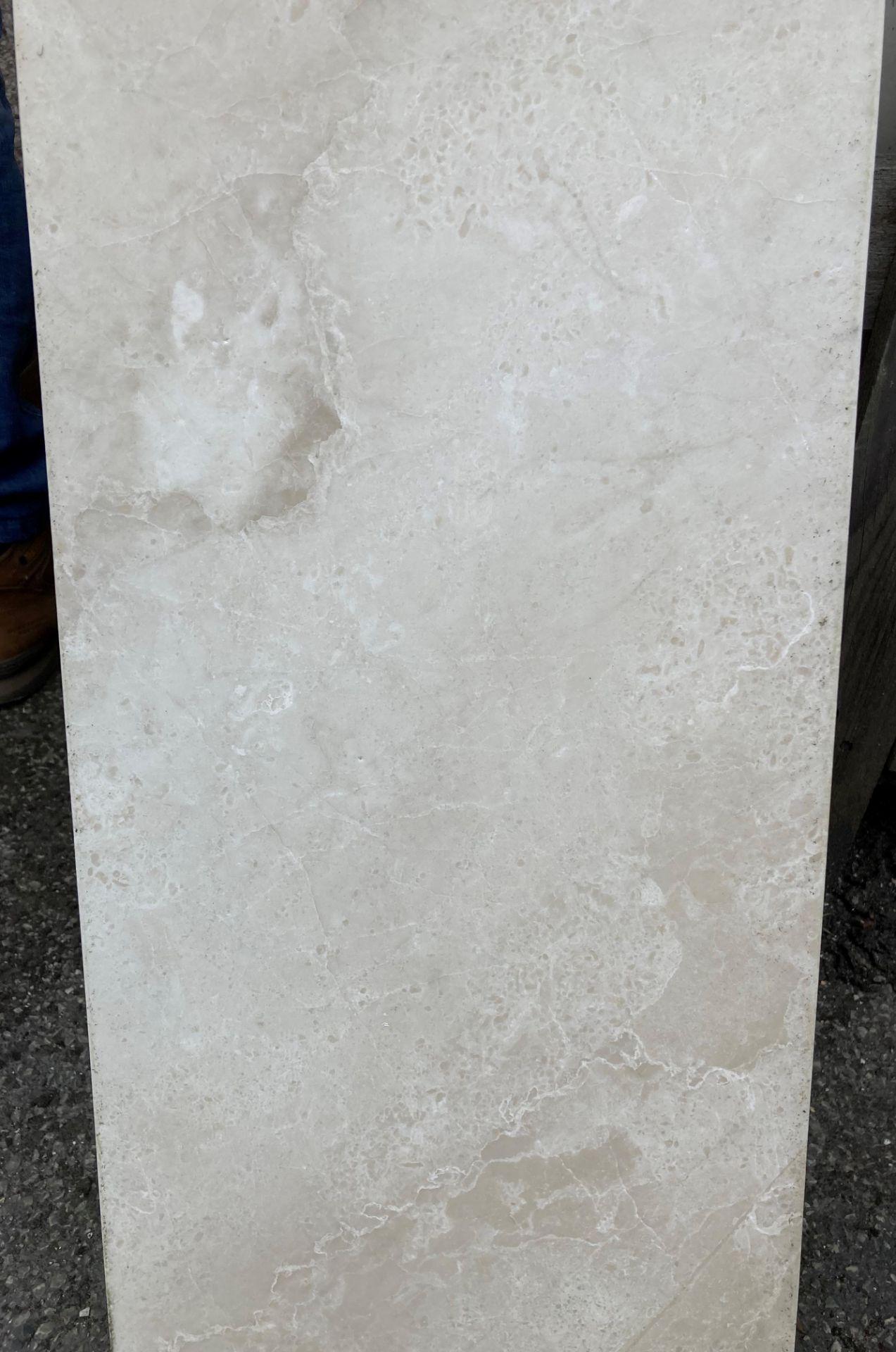 20 x packs of 4 marble tiles in Rosoni beige - 30 x 60 x 1.