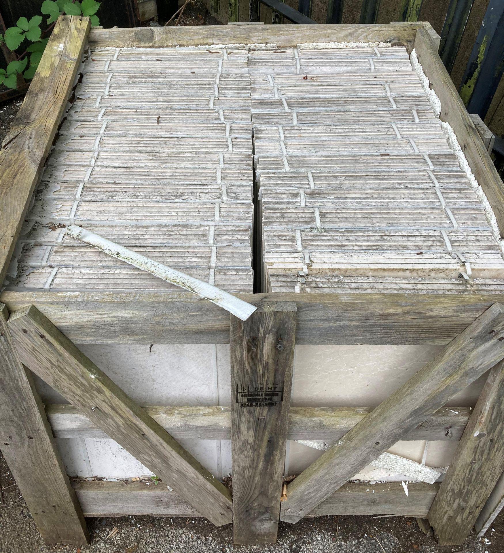 30 x packs of 4 marble tiles in Rosoni beige - 600 x 400 x 1. - Image 2 of 2