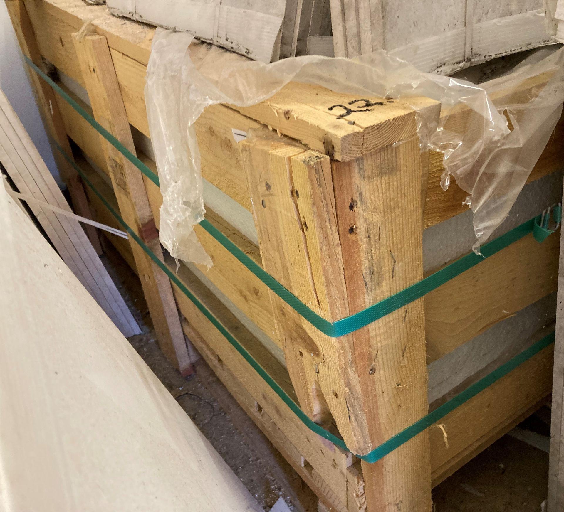 36 x packs of 4 Rosoni beige brushed tiles - 40 x 40 x 1. - Image 2 of 2