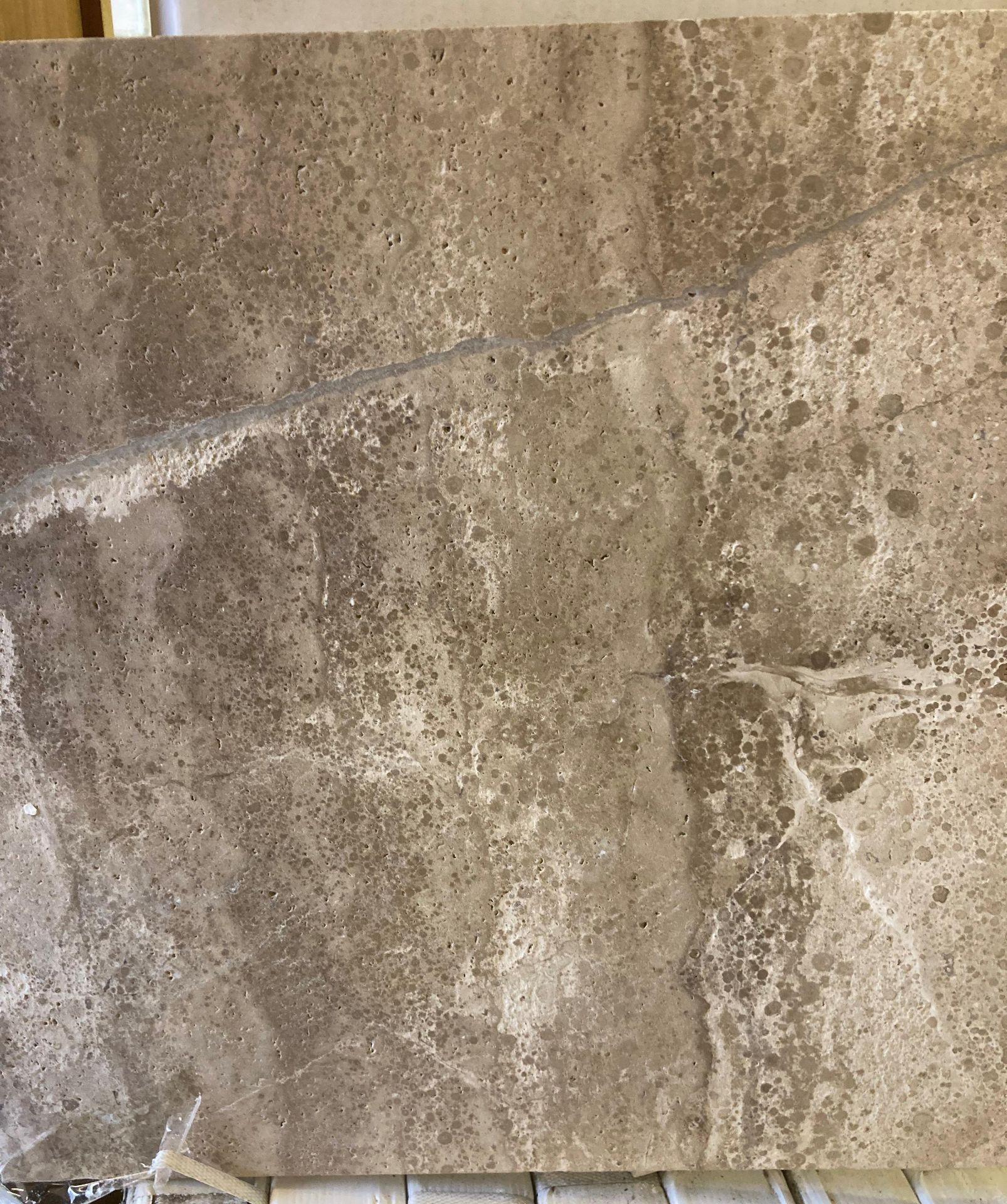 22 x packs of 4 marble tiramisu vein cut brushed tiles - 40 x 40 x 1.