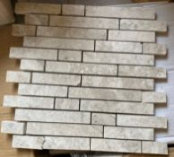 27 x packs of 10 silver Emperador Linear 1 brushed mosaic tiles - 30.5 x 30.