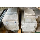 17 x packs of assorted 40 x 60cm marble tiles
