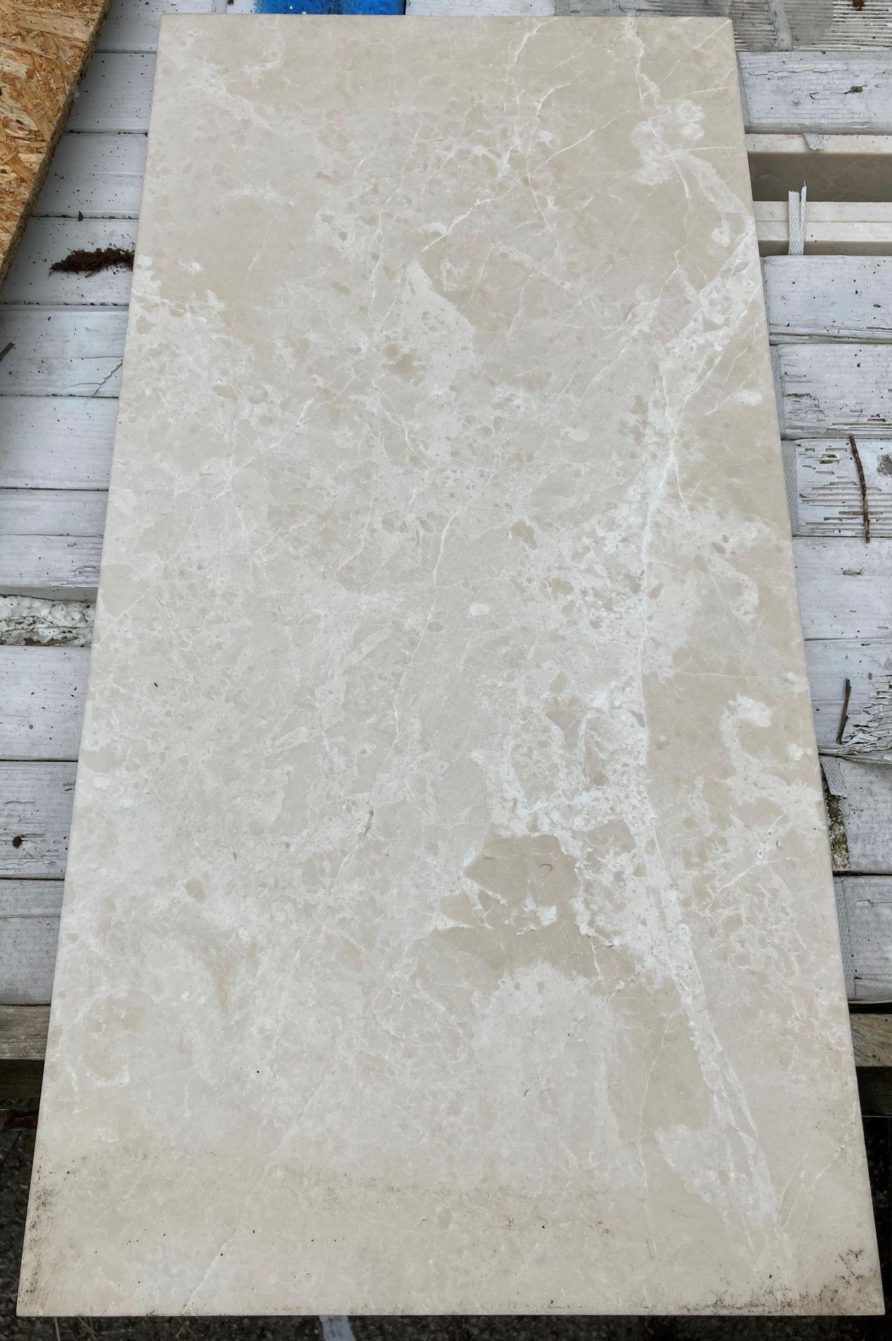 40 x packs of 4 marble tiles in Rosoni beige - 30 x 60 x 1.