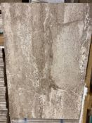 21 x packs of 4 marble tiramisu vein cut brushed tiles - 40 x 60 x 1.