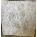 36 x packs of 4 marble silver Emperador brushed tiles - 40 x 40 x 1.