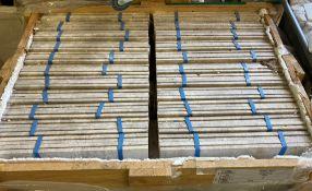 22 x packs of 4 marble Tiramisu vein cut brushed tiles - 40 x 60 x 1.