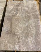 13 x packs of 4 marble Tiramisu vein cut brushed tiles - 40 x 60 x 1.