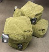 7 x cord bean cubes (green) - approximately 40 x 40 x 30cm