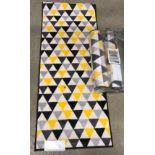 5 x packs of 3 Sainsbury's Home printed washable runners - 57 x 150cm