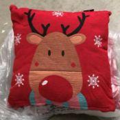 9 x packs of 2 tapestry cushions - reindeer - 38 x 38cm