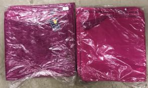 2 x packs of 8 chenille cushion covers in plum - 40 x 40cm