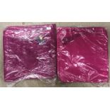 5 x packs of 8 chenille cushion covers in plum - 40 x 40cm