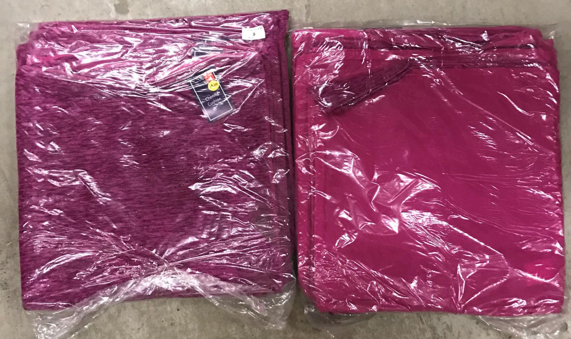 4 x packs of 8 chenille cushion covers in plum - 40 x 40cm