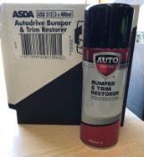 24 x 400ml cans of Asda Autodrive Bumper and Trim Restorer - 8 boxes