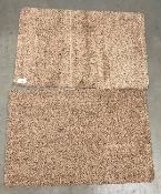 20 x brown speckled rubber backed doormats - 60 x 40cm