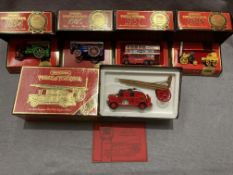 Five assorted Matchbox Models of Yesteryear , 1936 Leyland Cub fire engine FK7,