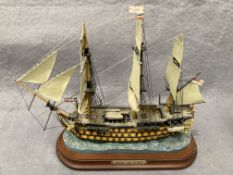 'HMS Victory', hand painted sculpture celebrating the 200th anniversary of the Battle of Trafalgar,