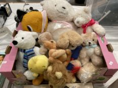 Contents to box, ten assorted soft toys including bears, lion, Tweeety Pie, etc.