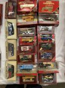 Twenty assorted Matchbox Models of Yesteryear boxed vehicles, AC Mack, Ford Model T,