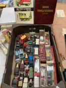 Contents to box, assorted matchbox Models of Yesteryear vehicles, Packard Victoria,